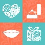 Cartolina d'auguri di vettore per il San Valentino Royalty Illustrazione gratis