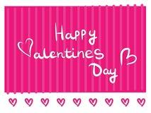 Cartolina d'auguri disegnata a mano, giorno felice del ` s del biglietto di S. Valentino dell'insegna Fotografia Stock Libera da Diritti