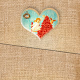 Cartolina d'auguri divertente di Natale, stile adorabile dell'annata di angelo Immagini Stock Libere da Diritti