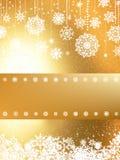 Cartolina d'auguri dorata di Buon Natale. ENV 8 Immagini Stock Libere da Diritti