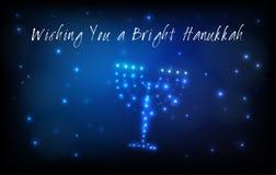 Cartolina d'auguri ebrea di Chanukah di festa royalty illustrazione gratis