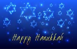 Cartolina d'auguri ebrea di Chanukah di festa illustrazione vettoriale