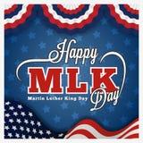 Cartolina d'auguri ed iscrizione di giorno di Martin Luther King Fotografia Stock