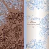 Cartolina d'auguri elegante di nozze illustrazione di stock