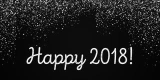 Cartolina d'auguri 2018 felice Fotografia Stock