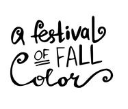Cartolina d'auguri felice di autunno di caduta Fotografia Stock