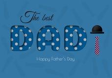 Cartolina d'auguri felice di calligrafia di giorno del padre s Immagini Stock Libere da Diritti