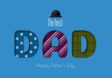 Cartolina d'auguri felice di calligrafia di giorno del padre s Immagine Stock