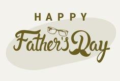 Cartolina d'auguri felice di Day Family Holiday del padre Immagini Stock Libere da Diritti
