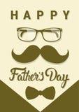 Cartolina d'auguri felice di Day Family Holiday del padre Immagine Stock Libera da Diritti