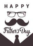 Cartolina d'auguri felice di Day Family Holiday del padre Fotografia Stock Libera da Diritti