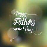 Cartolina d'auguri felice di Day Family Holiday del padre Fotografie Stock Libere da Diritti