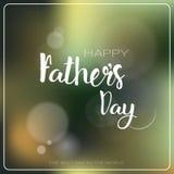 Cartolina d'auguri felice di Day Family Holiday del padre Immagine Stock
