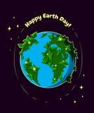 Cartolina d'auguri felice di giornata per la Terra Immagine Stock Libera da Diritti