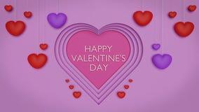cartolina d'auguri felice di giorno di biglietti di S. Valentino 3d royalty illustrazione gratis