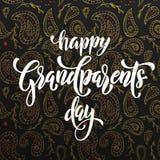 Cartolina d'auguri felice di giorno dei nonni Fotografia Stock Libera da Diritti
