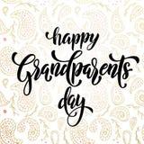 Cartolina d'auguri felice di giorno dei nonni Fotografia Stock