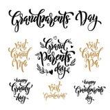 Cartolina d'auguri felice di giorno dei nonni Immagini Stock Libere da Diritti