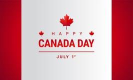 Cartolina d'auguri felice di giorno del Canada - vettore della bandiera della foglia di acero del Canada royalty illustrazione gratis