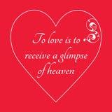 Cartolina d'auguri felice di giorno del ` s del biglietto di S. Valentino su fondo rosso Fotografia Stock
