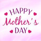 Cartolina d'auguri felice di giorno del ` s della madre Immagini Stock Libere da Diritti