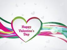 Cartolina d'auguri felice di giorno di biglietti di S. Valentino, illustrazione di vettore Fotografie Stock Libere da Diritti