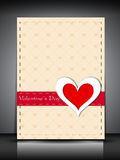 Cartolina d'auguri felice di giorno di biglietti di S. Valentino, scheda di regalo o fondo. ENV Fotografia Stock