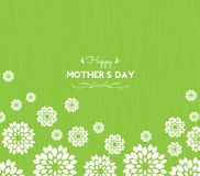 Cartolina d'auguri felice di giorno di madre con i fiori Fotografia Stock