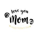 Cartolina d'auguri felice di giorno di madri illustrazione di stock