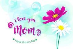 Cartolina d'auguri felice di giorno di madri royalty illustrazione gratis