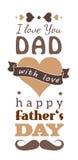 Cartolina d'auguri felice di giorno di padri Immagine Stock Libera da Diritti