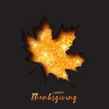 Cartolina d'auguri felice di giorno di ringraziamento Fotografia Stock
