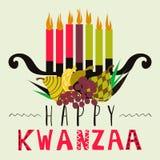Cartolina d'auguri felice di Kwanzaa, fondo Immagini Stock