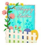 Cartolina d'auguri felice di Pasqua Immagine Stock