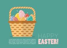 Cartolina d'auguri felice di Pasqua Fotografia Stock Libera da Diritti