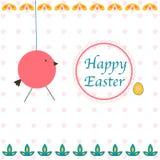 Cartolina d'auguri felice di Pasqua Illustrazione Vettoriale