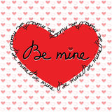 Cartolina d'auguri felice di San Valentino Immagini Stock