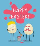 Cartolina d'auguri felice divertente di Pasqua Immagine Stock