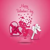 Cartolina d'auguri felice rosa di giorno del ` s del biglietto di S. Valentino Immagini Stock Libere da Diritti