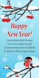 Cartolina d'auguri festiva alla moda con l'uccello Immagini Stock