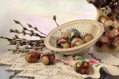 Cartolina d'auguri festiva di Pasqua, saluto immagini stock