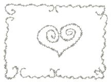 Cartolina d'auguri floreale Fotografia Stock Libera da Diritti
