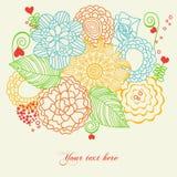 Cartolina d'auguri floreale Fotografia Stock