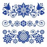 Cartolina d'auguri floreale di arte di piega, elementi di progettazione, decorazione scandinava di stile con i fiori e foglie, re Immagini Stock
