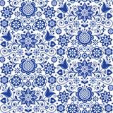 Cartolina d'auguri floreale di arte di piega, elementi di progettazione, decorazione scandinava di stile con i fiori e foglie, re Fotografia Stock