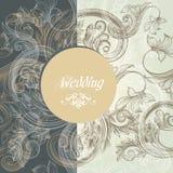 Cartolina d'auguri floreale di nozze illustrazione di stock