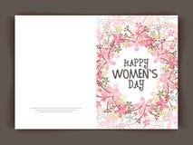 Cartolina d'auguri floreale per la celebrazione del giorno delle donne royalty illustrazione gratis