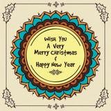 Cartolina d'auguri floreale per la celebrazione 2016 del nuovo anno Fotografie Stock Libere da Diritti