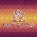 Cartolina d'auguri geometrica variopinta di Buon Natale Fotografia Stock