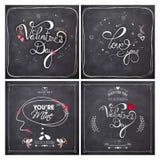 Cartolina d'auguri messa per la celebrazione di San Valentino Immagini Stock